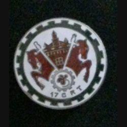 17° CRT : insigne de la 17° compagnie régionale du train en émail de fabrication Drago Rue Béranger