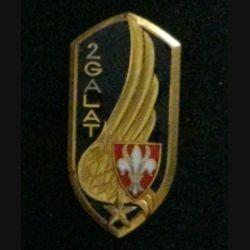 2° GALAT : insigne du 2° groupe de l'aviation légère de l'armée de terre de fabrication Arthus Bertrand G. 1983 en émail