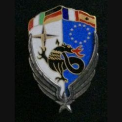 DETALAT DMNSE : insigne du détachement de l'aviation légère de l'armée de terre de la division multinationale Sud-Est en 1997 en Ex-Yougoslavie de fabrication Pichard