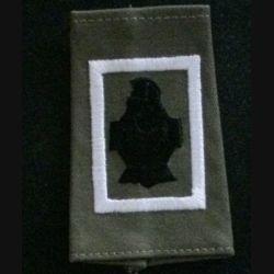 FOURREAU COMBAT : insigne tissu de fourreau de combat de la compagnie de commandement et des services blanc du 5° régiment du génie cuirasse sans chiffre