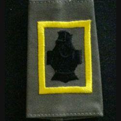 FOURREAU COMBAT : insigne tissu de fourreau de combat de la 3° compagnie de combat jaune du 5° régiment du génie cuirasse sans chiffre