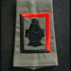 FOURREAU COMBAT : insigne tissu de fourreau de combat de la compagnie de franchissement noire et rouge du 5° régiment du génie cuirasse sans chiffre