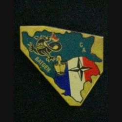 71° RG : insigne de la compagnie d'appui du Capitaine IBOS du 71° régiment du génie en opération avec le Batgen du 1° mandat de l'IFOR en 1996 numéroté 053