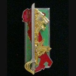 """PROMOTION EMIA : insigne de la promotion de l'école militaire interarmes """"Capitaine de Belsunce"""" fabriquée par Arthus Bertrand G. 2504"""