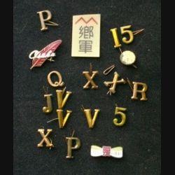 JAPON : insignes de tenues militaires japonaises datant de la seconde guerre mondiale