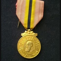 BELGIQUE : médaille de Léopold II 1865-1909 en bronze doré