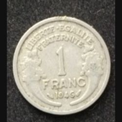 FRANCE : pièce de 1 franc Morlon 1946
