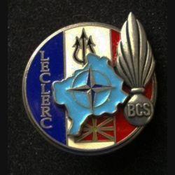 TRAIN : insigne du bataillon de commandement et de soutien (BCS) de la brigade Leclerc lors de l'opération Trident de fabrication Delsart