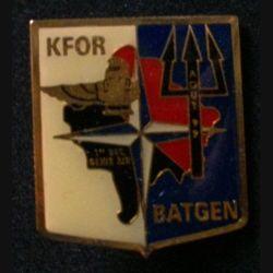 BATGEN : insigne du 1° détachement du génie de l'air BATGEN d'août 1999 opération Trident KFOR (Kosovo Force)