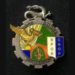 TRAIN : insigne du bataillon logistique de la brigade multinationale Nord (BMNN) 1° Mandat opération trident Kosovo Force (KFOR) de fabrication Delsart