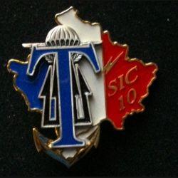 TRANS : insigne de la brigade de commandement des transmissions (BCT), 11° Mandat, de l'unité de commandement et de logistique (UCL) au Kosovo opération trident