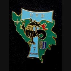 TRANS : insigne de l'unité de transmission divisionnaire (UTD), 7° mandat, de la division Salamandre de la SFOR de fabrication Balme n°192