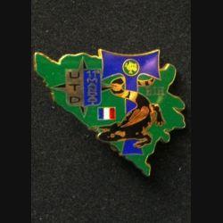 TRANS : insigne de l'unité de transmission divisionnaire (UTD),11° mandat, de la division Salamandre de la SFOR de fabrication Balme