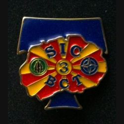 TRANS : insigne de la brigade de commandement des transmissions (BCT), 3° Mandat, SIC, de l'unité de commandement et de logistique (UCL) au Kosovo opération trident numéroté 16
