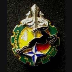 503° RT : insigne du 3° escadron de transport (ET) du 503° régiment de train opération trident au Kosovo 3° Mandat de fabrication Boussemart 2000 numéroté 91