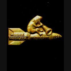 USA : insigne des moore missileer membership 1959 en laiton embouti