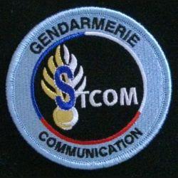 GENDARMERIE STCOM : insigne tissé du service technique de la communication de la gendarmerie nationale modèle agréé DGGN