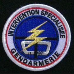 GENDARMERIE INTERVENTION SPECIALISEE : insigne tissé du peloton d'intervention 2° génération de la gendarmerie nationale modèle agréé DGGN