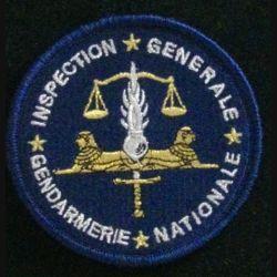 GENDARMERIE IGGN : insigne tissé de l'inspection générale de la gendarmerie nationale modèle agréé DGGN