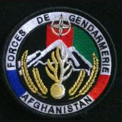 GENDARMERIE AFGHANISTAN : insigne tissé des forces de gendarmerie en Afghanistan modèle agréé DGGN