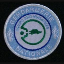 GENDARMERIE GAN : insigne tissé du groupe anti-nuisances de la gendarmerie nationale modèle agréé DGGN