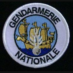 GENDARMERIE ST PIERRE ET MIQUELON : insigne tissé de la compagnie de gendarmerie de Saint Pierre et Miquelon modèle agréé DGGN