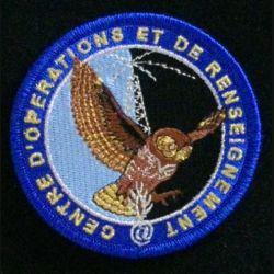 GENDARMERIE COR : insigne tissé du centre d'opérations et de renseignement de la gendarmerie nationale modèle agréé DGGN