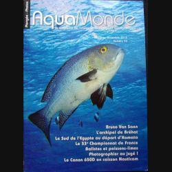 AQUAMONDE N° 53 Oct-nov 2014 : superbe magazine d'Aquamonde n° 53 sur l'image et les voyages subaquatiques