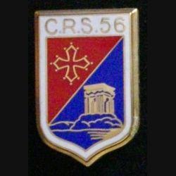 CRS 56 : insigne de la compagnie républicaine de sécurité n°56 de fabrication Boussemart
