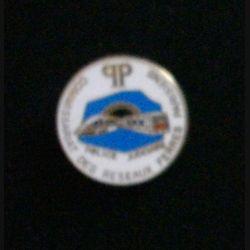 POLICE : Pin's du commissariat des réseaux ferrés parisiens de fabrication Boussemart diamètre 2,8 cm