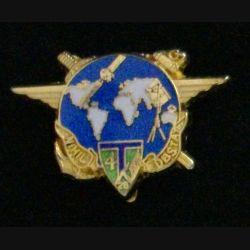 28°RT : insigne de la 4° compagnie du 28° régiment de transmissions de fabrication JMM Insignes modèle translucide doré