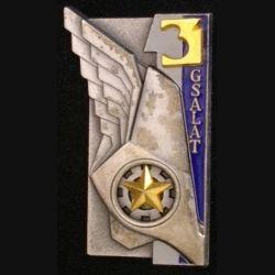 3° GSALAT : insigne du 3° groupe de soutien de l'aviation légère de l'armée de terre de fabrication Delsart G. 2583 1 gris