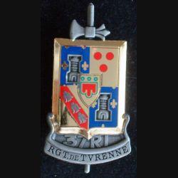 37° RI : insigne métallique du 37 régiment d'infanterie, régiment de Turenne, de fabrication Arthus Bertrand Paris pour les Editions Atlas
