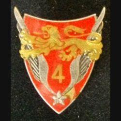 4° GALAT : insigne du 4° groupe de l'aviation légère de l'armée de terre de fabrication Drago G. 2073 avec un éclat d'émail