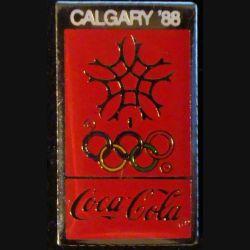 Pin's Coca Cola : pin's publicitaire de Coca Cola des jeux olympiques d'hiver de Calgary en 1988
