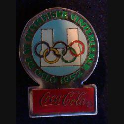 Pin's Coca Cola : pin's publicitaire de Coca Cola des jeux olympiques d'hiver d'Oslo en 1952