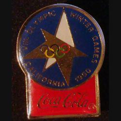 Pin's Coca Cola des jeux olympiques d'hiver de California en 1960