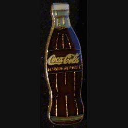 Pin's Coca Cola : pin's publicitaire de Coca Cola bouteille de verre