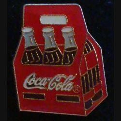 Pin's Coca Cola : pin's publicitaire de Coca Cola pack de 6 bouteilles