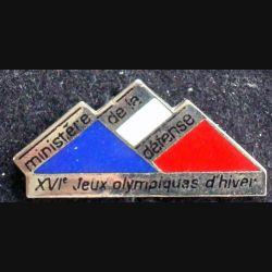 Pin's militaire : pin's des XVI° jeux olympiques d'hiver du ministère de la défense