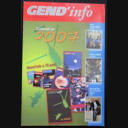 Gend Info : revue de la gendarmerie n° 292 de Décembre 2006 traite du calendrier 2007