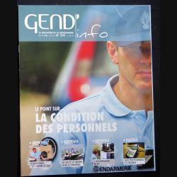 Gend Info : revue de la gendarmerie n° 330 de Octobre 2010 traite de la condition des personnels