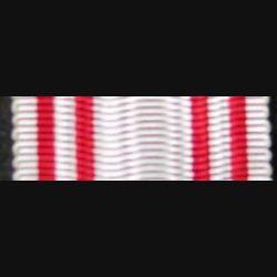 AUTRICHE : ruban de la médaille de la croix rouge autrichienne de longueur 14 cm