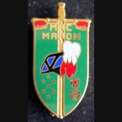 ECOLE : insigne métallique de la Corniche Mac Mahon du lycée militaire d'Autun