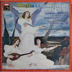 Disque vinyle 33 tours de Gounod messe solennelle de Sainte Cécile avec Barbara Hendricks