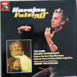 DISQUE 33T : Coffret de 2 disques vinyles 33 tours Falstaff de verdi sous la direction de Karajan