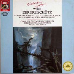 DISQUE 33T : Coffret de 2 disques vinyles 33 tours Der Freischütz de Weber direction Joseph Keilberth