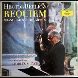 DISQUE 33T : Coffret de 2 disques vinyles 33 tours Requiem de Hector Berlioz direction Charles Munch