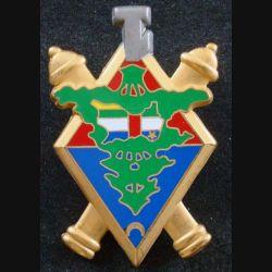 68° RA : insigne métallique de la 1° batterie du 68° régiment d'artillerie de fabrication Arthus Bertrand