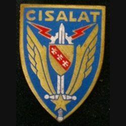 CIS ALAT : insigne du centre d'instruction des spécialistes de l'aviation légère de l'armée de terre de fabrication Drago G. 2090 dos doré en émail